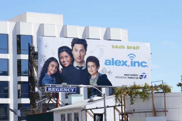 Alex Inc series premiere billboard