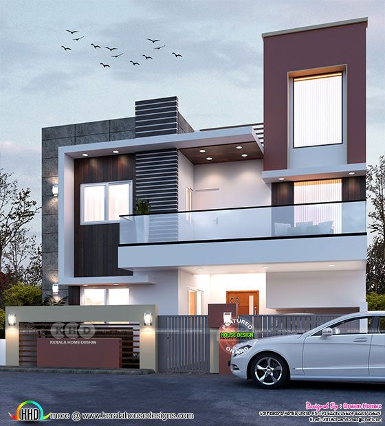 Contemporary model 4 bedroom Tamilnadu home