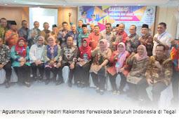 Agustinus Utuwaly Hadiri Rakornas Forwakada Seluruh Indonesia di Tegal
