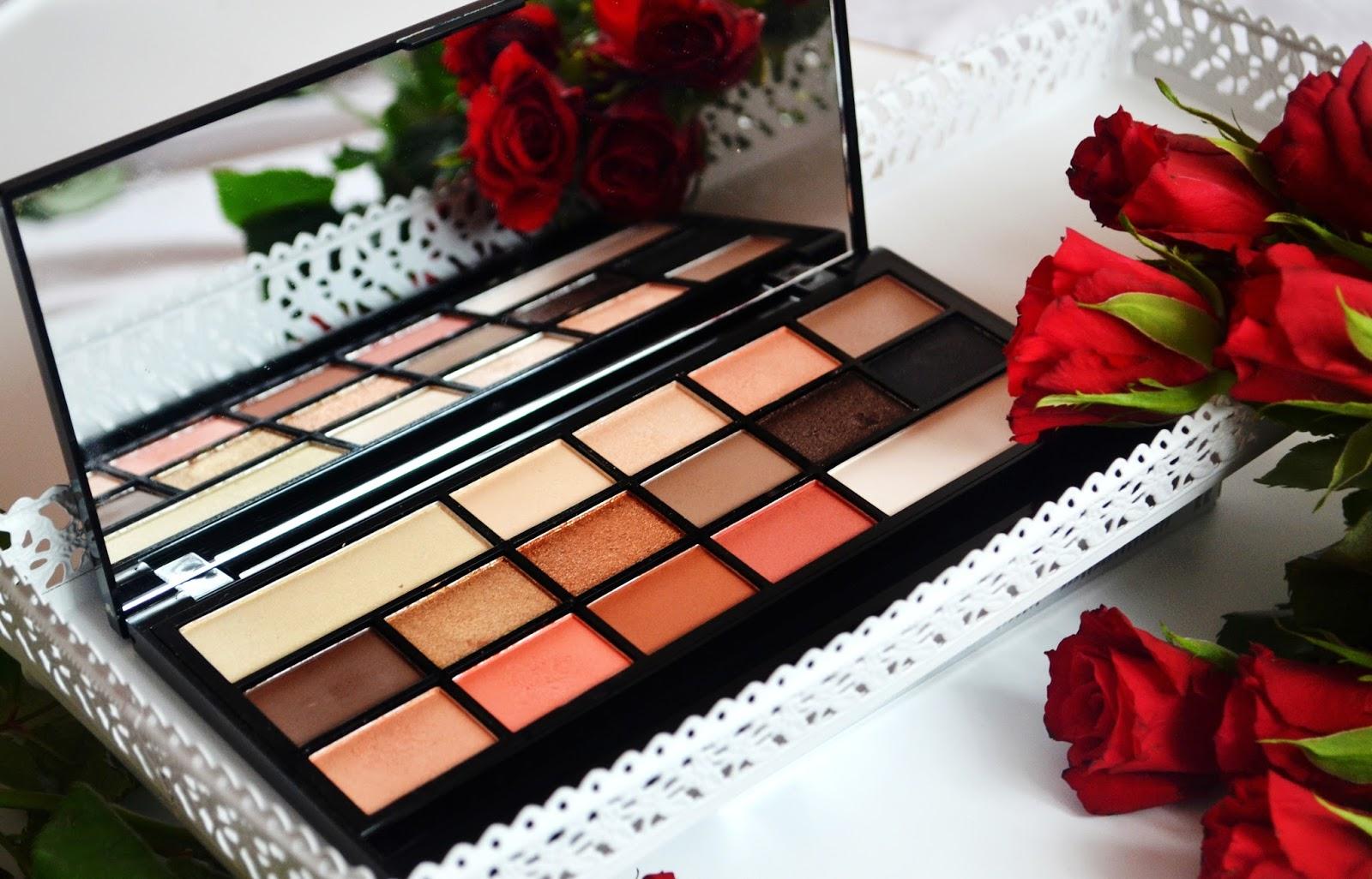 Makuep Revolution chocolate vice recenzja swatche makijaż ciepła tonacja
