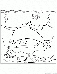Dolphin On Beach Coloring Pages For Free