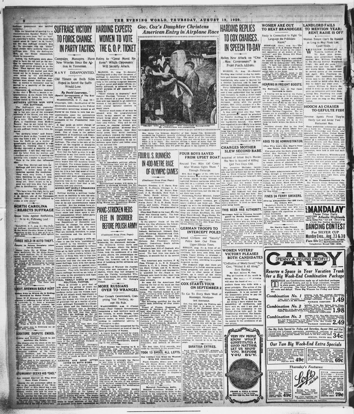 the evening world thursday august 19 1920