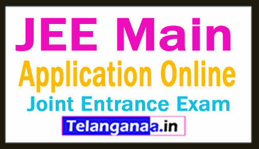 JEE Main  Application Online Apply