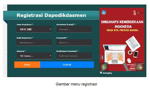 registrasi offline dapodik 2019