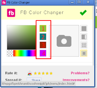 menukar warna fb