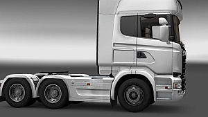 Scania Streamline sideskirts and sun visor by AU44