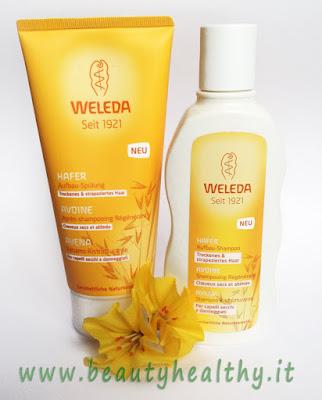 weleda shampoo balsamo ristrutturante avena