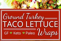 Ground Turkey Taco Lettuce Wraps | Paleo, Whole30, Keto Recipe