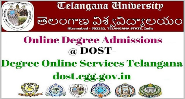 Telangana University,Online Degree Admissions,dost degree online services telangana
