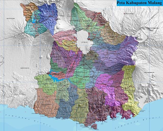 Peta Administrasi Kabupaten Malang