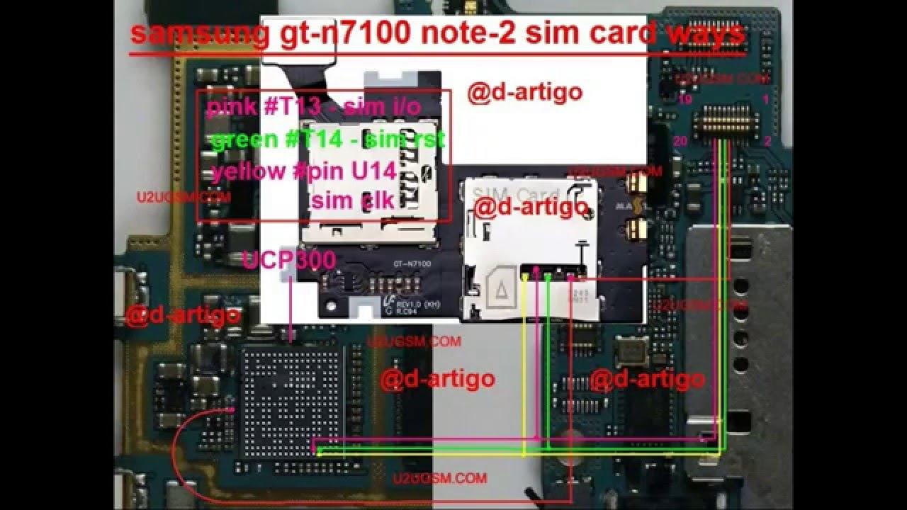 Samsung Galaxy Note 2 N7100 Insert Sim Solution Jumper