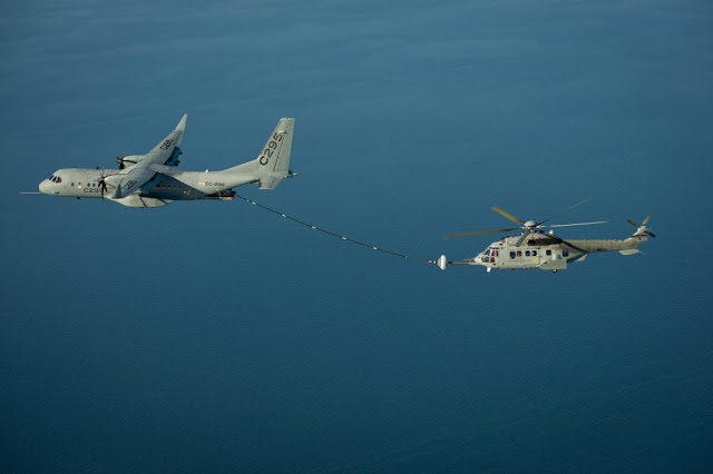 VIDEO - AIRBUS C295 REFUELLING HELICOPTER