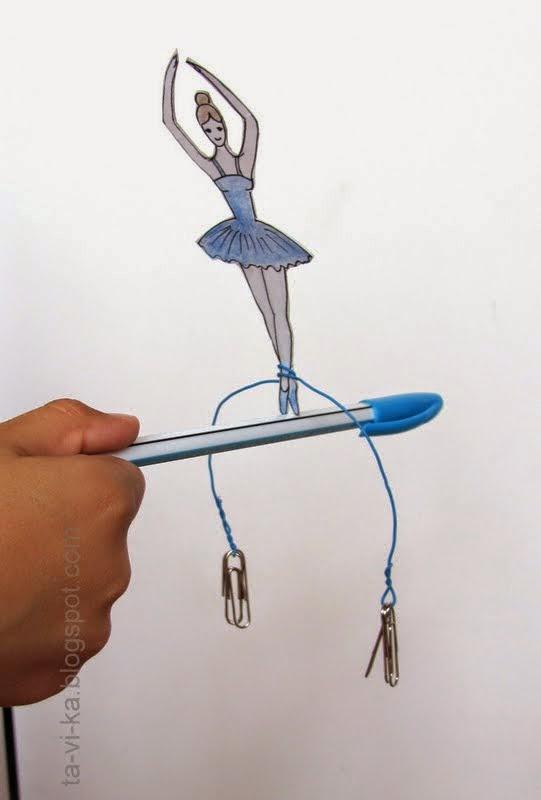 Научная поделка - балерина, балансирующая на проволоке