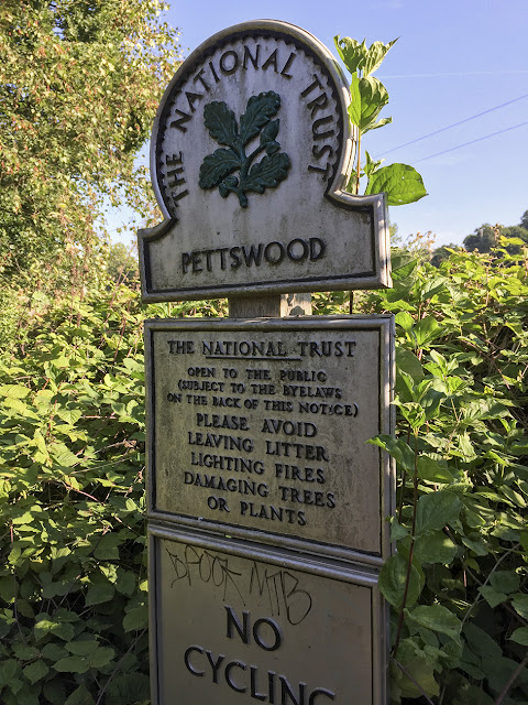 Petts Wood sign.  Walk around the Hawkwood Estate 14, 30 August 2016.