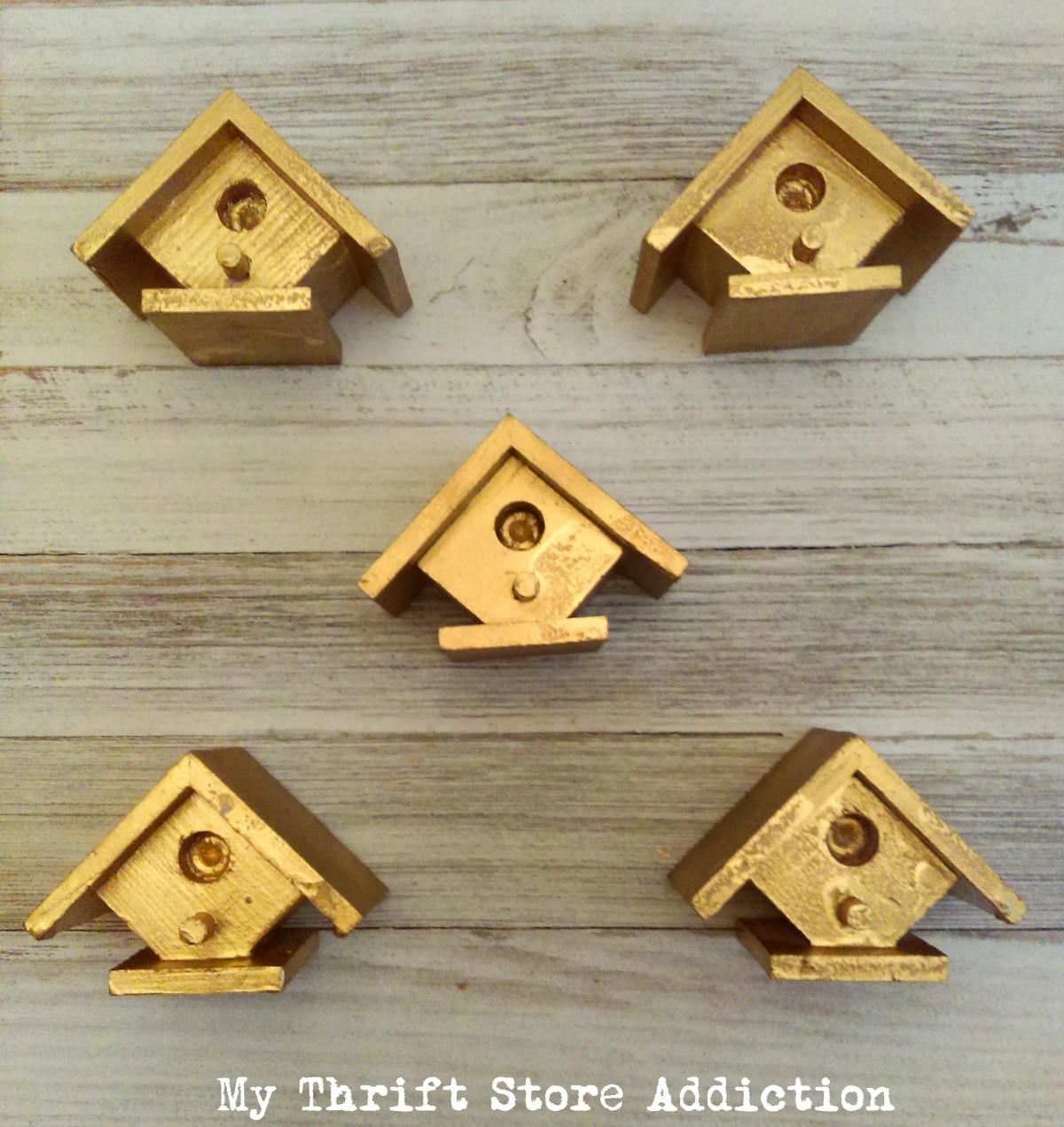 thrift store birdhouses