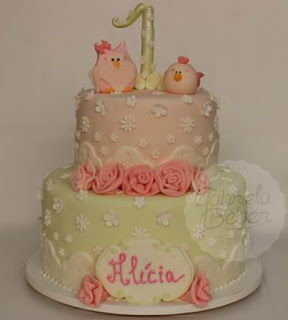 bolo passarinho coruja