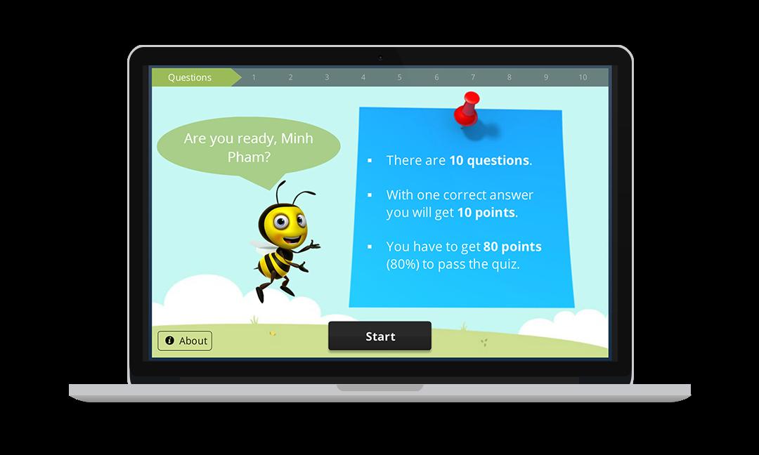 School Things - Tiếng anh 6 thì điểm - E-learning