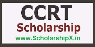 CCRT Scholarship 2017-18