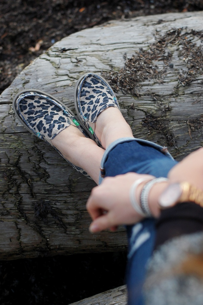 Sanuk leopard On the Prowl slip-on shoes Fall 2014 Vancouver blogger