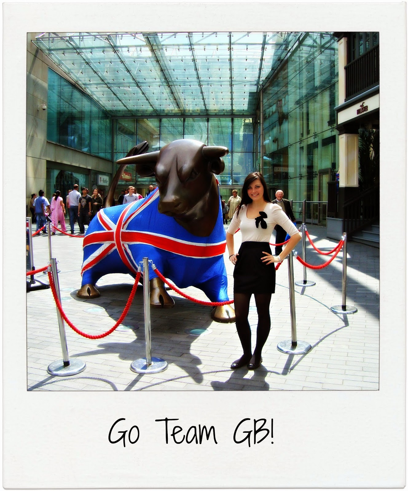 The Bull in Birmingham with his Team GB dress
