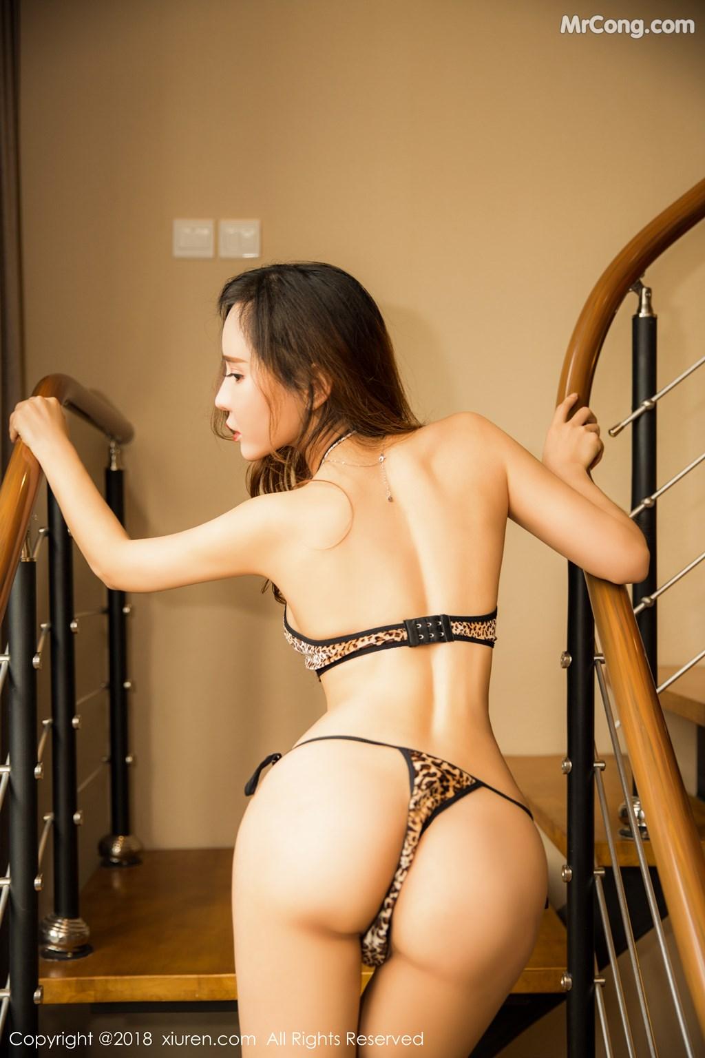 Image XIUREN-No.1276-Ai-Xiao-Qing-MrCong.com-004 in post XIUREN No.1276: Người mẫu Ai Xiao Qing (艾小青) (46 ảnh)