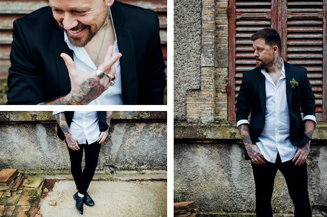 blog mi boda - editorial majestic greenery - novio tatuado