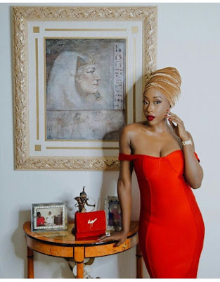 GPM Fashion Look of the day: Beverly Naya in HOT red (Photos)
