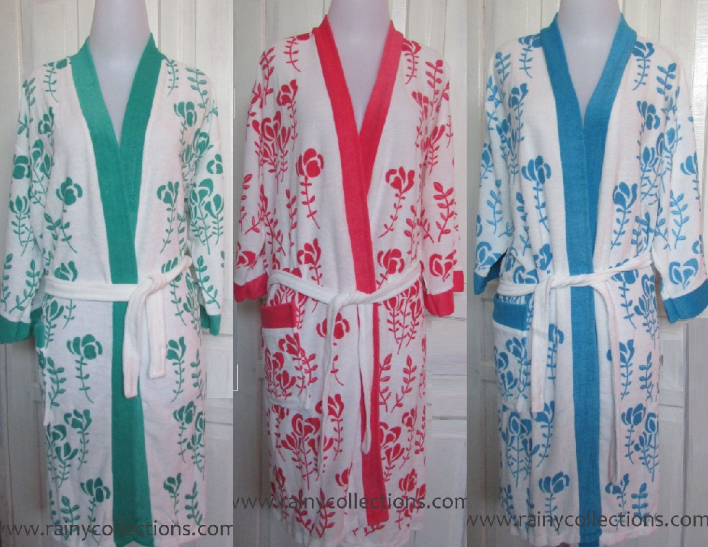 Rainy Collections Handuk Kimono Motif Dewasa Hello Kitty Mandi Yang Sangat Cantik Bunga Mawar