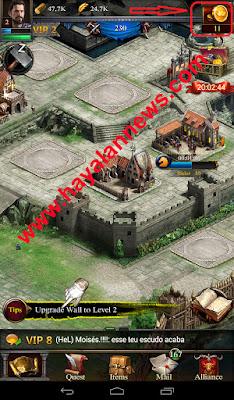 Trik gratis mendapatkan banyak gold game clash of kings