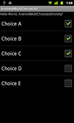 Multi Choice ListView