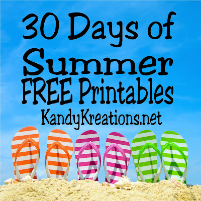 30 Days of Free Printables