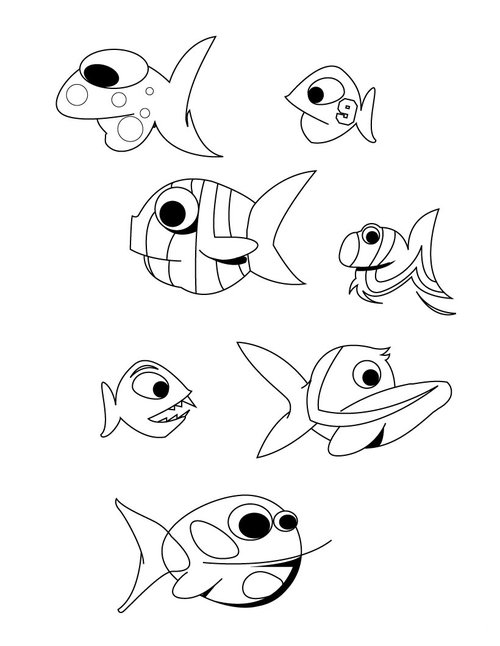 coloring pages small | Small Fish Coloring Pages For Kids >> Disney Coloring Pages