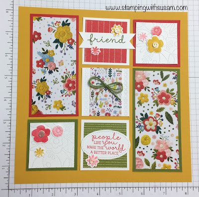 Stampin' Up!, Needlepoint Nook Suite, www.stampingwithsusan.com, 8x8 Sampler,