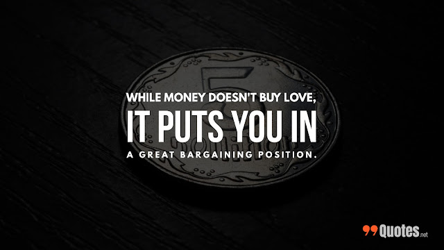 quotes about love and money