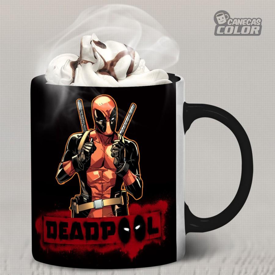 Caneca Deadpool 04 Alça Preta