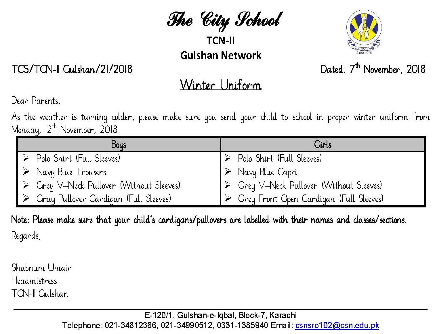 Sr Gulshan The City Nursery Ii