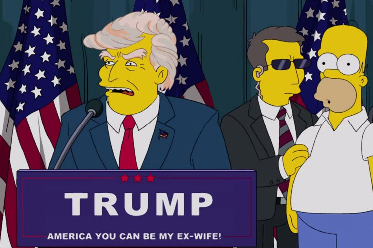 Looks Like The Simpsons Predicted President Trump 16 Years Ago, Take A Look