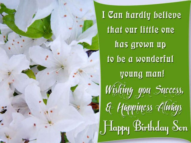 Wishing Birthday Wishes for Son with Images