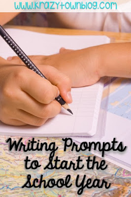 Free narrative writing prompts based on children's books to start off your school year.