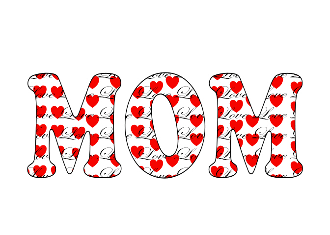 Gael's Crafty Treasures: Mothers Day Word Art