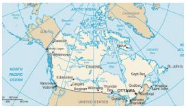 Letak Geografis dan Astronomis, Batas-Batas, Bentang Alam, Iklim dan Keadaan Penduduk di Negara-Negara Amerika Utara (Amerika Serikat dan Kanada)