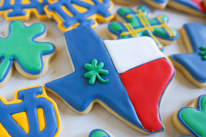 Texas Notre Dame decorated cookies ♥ #notredame