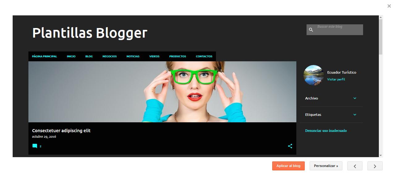 Nuevas Plantillas en la plataforma de Blogger