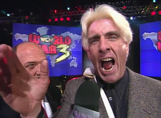 WCW WORLD WAR 3 1996 - An Injured Ric Flair was super over with the Norfolk crowd
