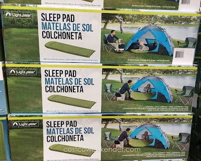 Sleep on a soft surface away from the cold ground with the Lightspeed Self Inflating Camp Sleep Pad