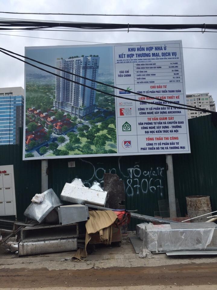 Tiến độ thi công tại chung cư Thanh Xuân Complex
