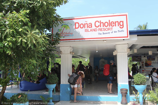 Reception area of Dona Choleng Island Resort, Quezon Province