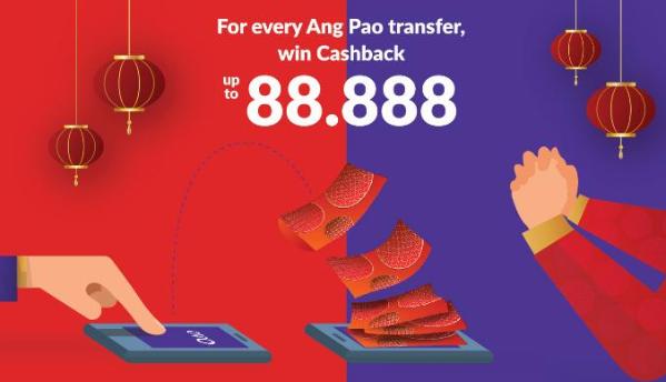 Ovo bagi - bagi angpao imlek hingga Rp. 88.000