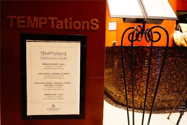 TEMPTationS Dinner Buffet 3 + 1 at Renaissance Hotel Kuala Lumpur