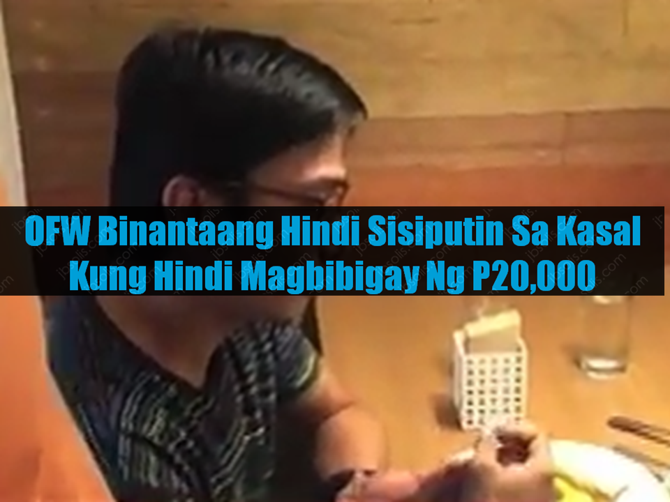 A man was arrested by the authorities after trying to extort P20,000 from her bride-to-be. he told his future wife that he will not attend their wedding unless the bride gives him the money he was asking.  Raul Domingo, 39, was arrested in a restaurant at Katipunan Avenue, Quezon City in an entrapment operation conducted by Criminal Investigation and Detection Group (CIDG) Quezon City.  He was Arrested as he received the marked money given by her fiance, an Overseas Filipino Worker (OFW) who works as a music teacher in Singapore. Paula (real name withheld), 40, said that the suspect threaten him that he will not come to their wedding if she will not give him the money. After reporting to the authorities, she arranged her meeting with Domingo that led to his arrest.  Investigation revealed that it is not the first time that the suspect asked money from her. The OFW confessed that she wanted to settle and have a family and she believed that Domingo will be her partner for life but it turned out that her fiance is an extortionist who only wanted her money.      Sponsored Links      The CIDG conducts further investigation to find out if the suspect has other victims aside from Paula. CIDG is looking on a possibility that the suspect is acting on a modus operandi that targets people especially the OFWs which according to them are most prone to these similar kind of swindling.    Paula said they had been in a relationship for 5 months after meeting each other on a social media site. They already had their civil wedding and their church wedding is also set but after the civil wedding, the victim had no idea as to the whereabouts of the suspect. The suspects later contacted her via phone asking for the said amount of money. The suspects refused to make any statement. he is now facing robbery extortion charges as well as violence against women.       Advertisement  Read More:                     ©2017 THOUGHTSKOTO